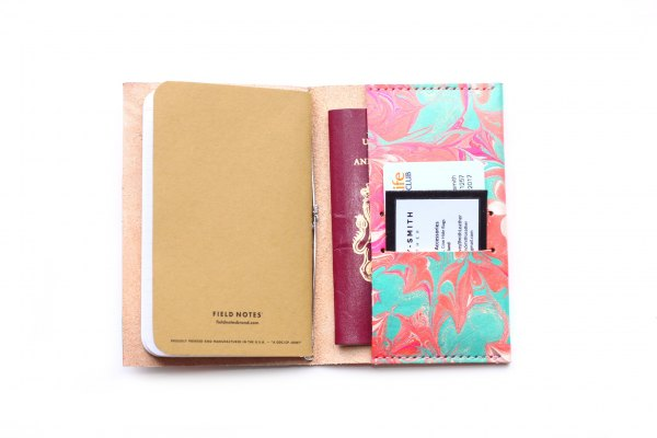 Harvey-smith leather journal and passport holder