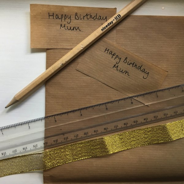 brown paper and ruler for craft
