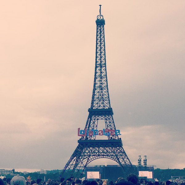Eiffel Tower at lollapalooza