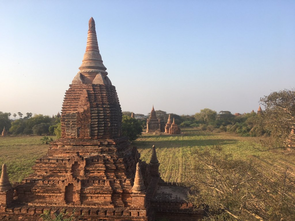 exploring temples in Bagan
